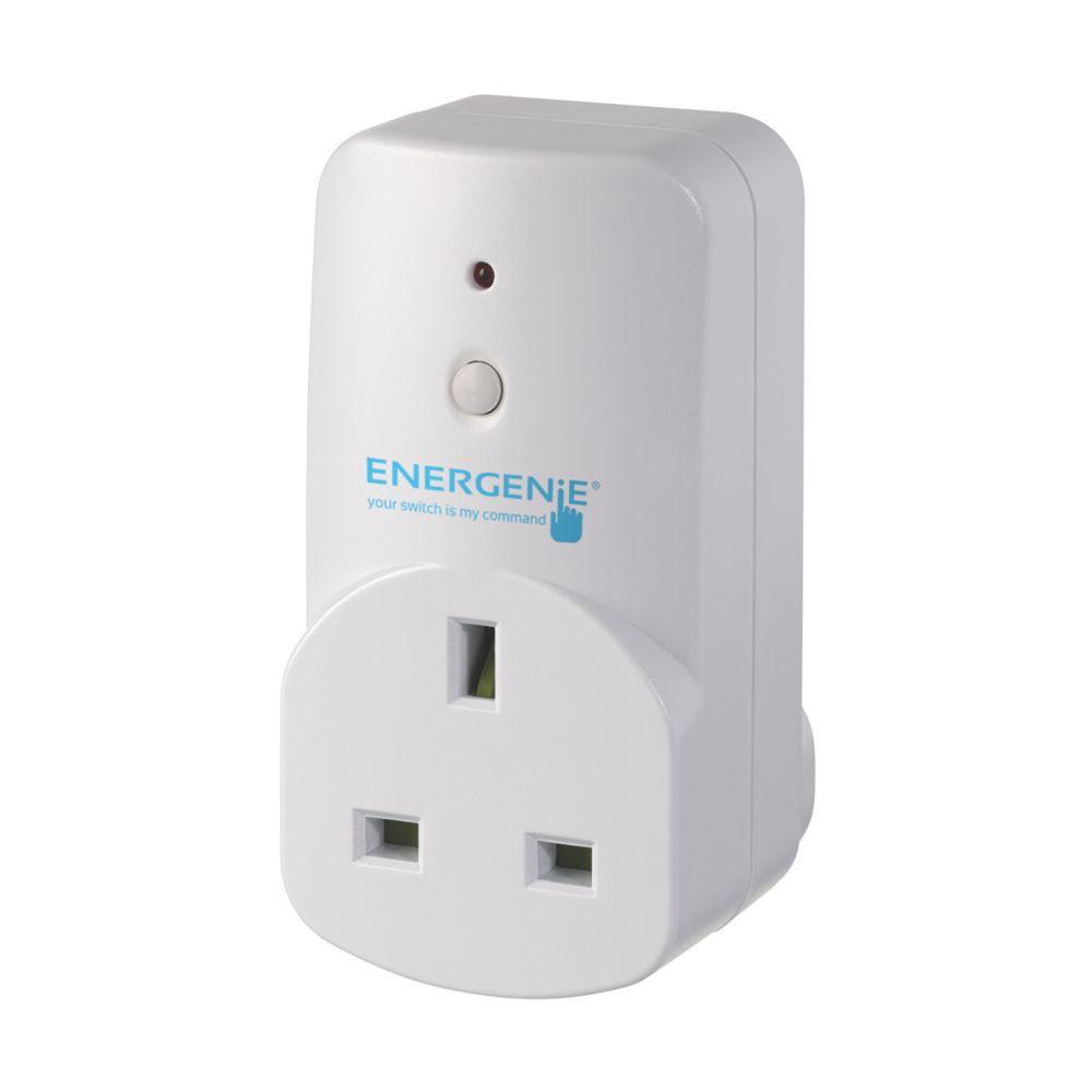 Energenie MiHome 13A Adaptor Sockets White 3 Pack