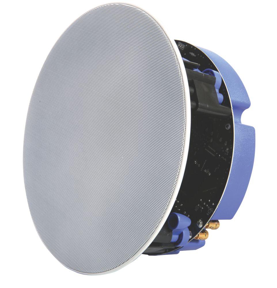 "Lithe Audio 01571 Bluetooth Ceiling Speaker Kit White Grille 9"" 50W RMS 2 Piece Set"
