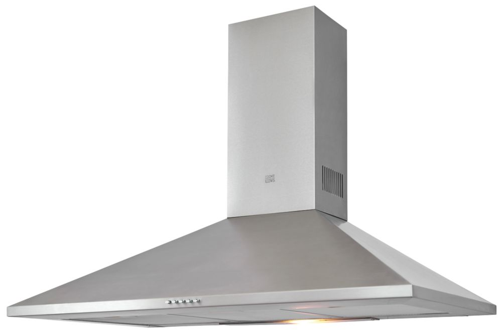 Cooke & Lewis CLCHS90 Chimney Hood Stainless Steel 900mm