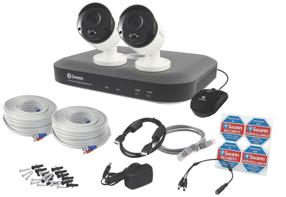 Swann   4-Channel  5MP CCTV DVR Kit & 2 Indoor & Outdoor Cameras