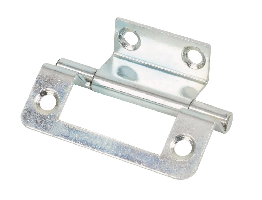 Zinc-Plated  Double Cranked Hinges 50 x 35mm 2 Pack