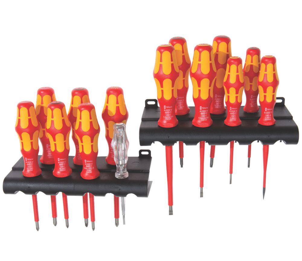 Wera Kraftform Plus Mixed  VDE Screwdriver Set 16 Pieces