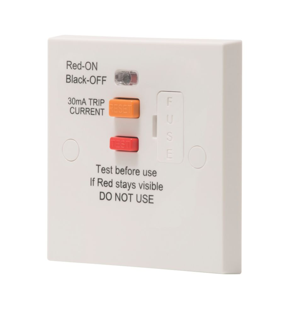 British General 900 Series 13A Unswitched Passive Fused Spur  White