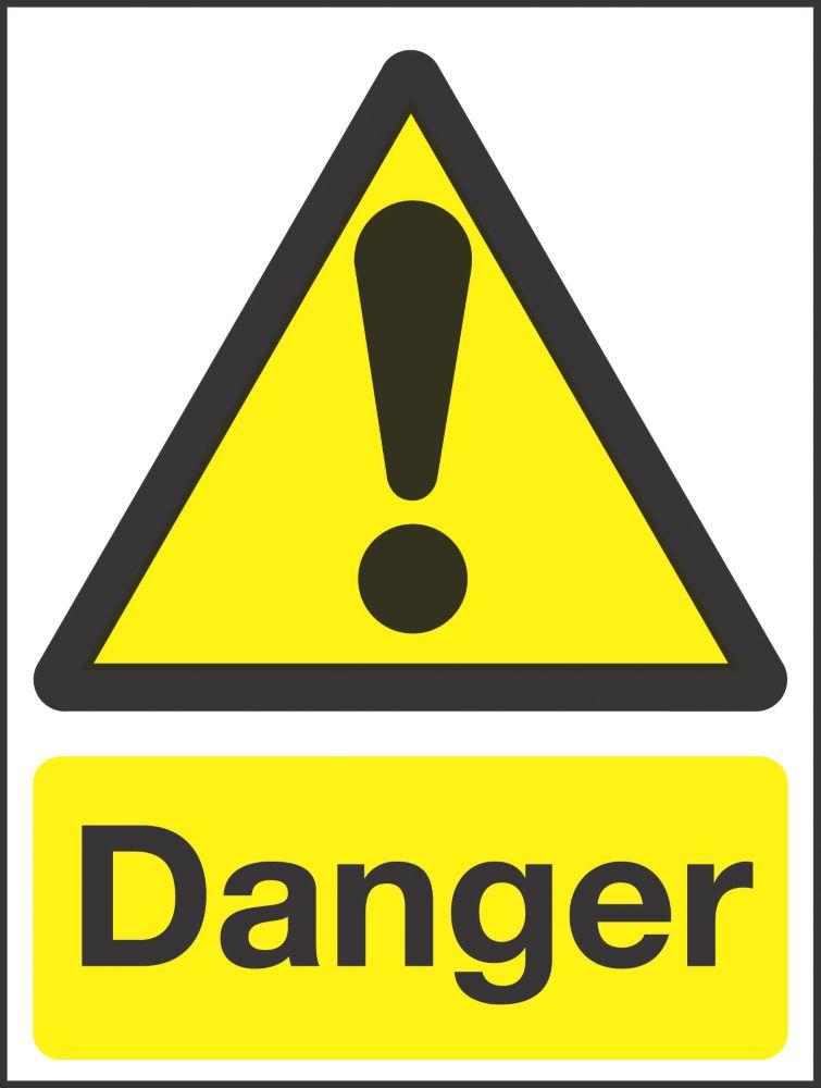 """Danger"" Sign 210 x 150mm"