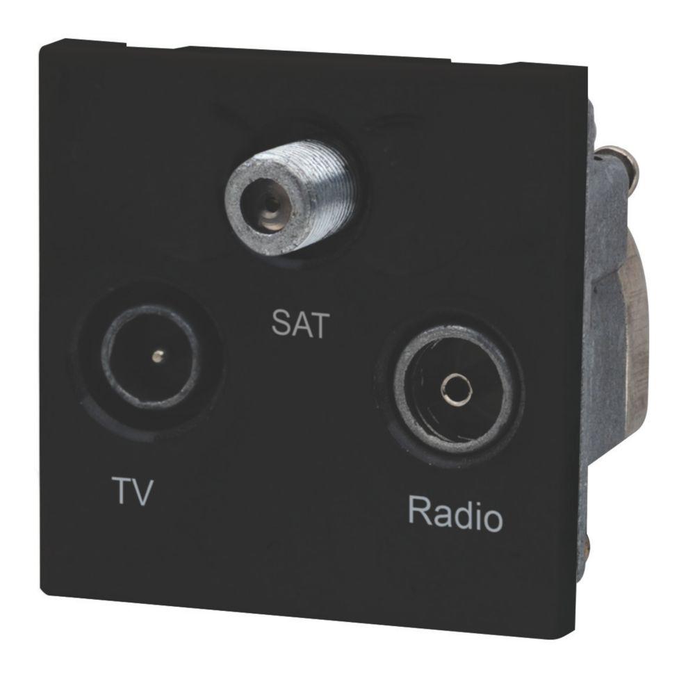 LAP TV, FM & Satellite Screened Triplex Grid Module Black