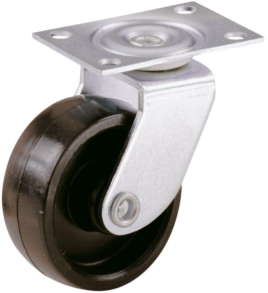 Select Single-Wheel Castor Plates 41mm 2 Pcs