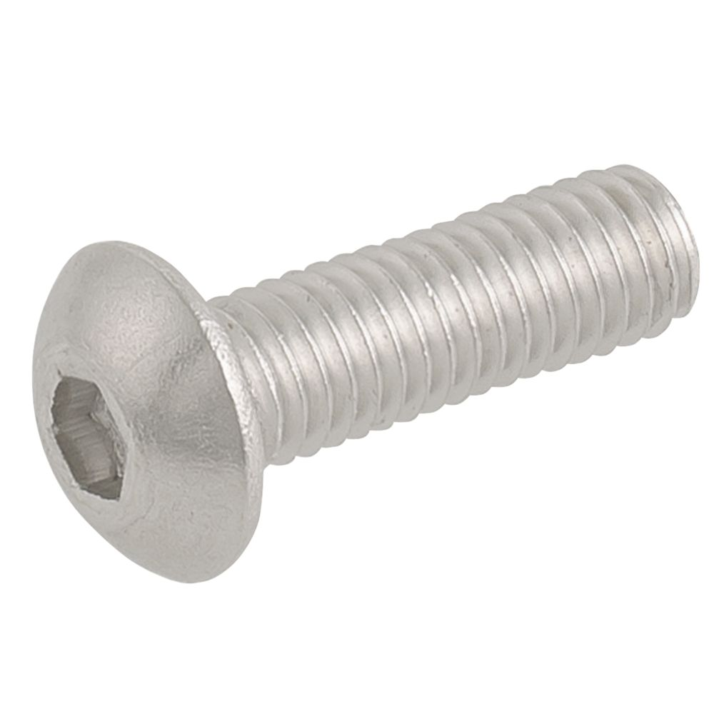 Easyfix Button Head Socket Screws A2 Stainless Steel M5 x 16mm 50 Pack