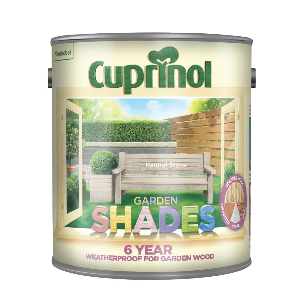 Cuprinol Garden Shades Wood Paint Matt Natural Stone 2.5Ltr