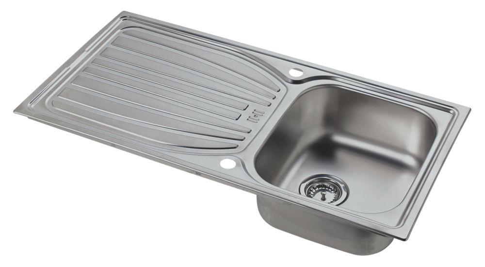 Astracast Alto  Kitchen Sink  Stainless Steel 1 Bowl 980 x 510mm