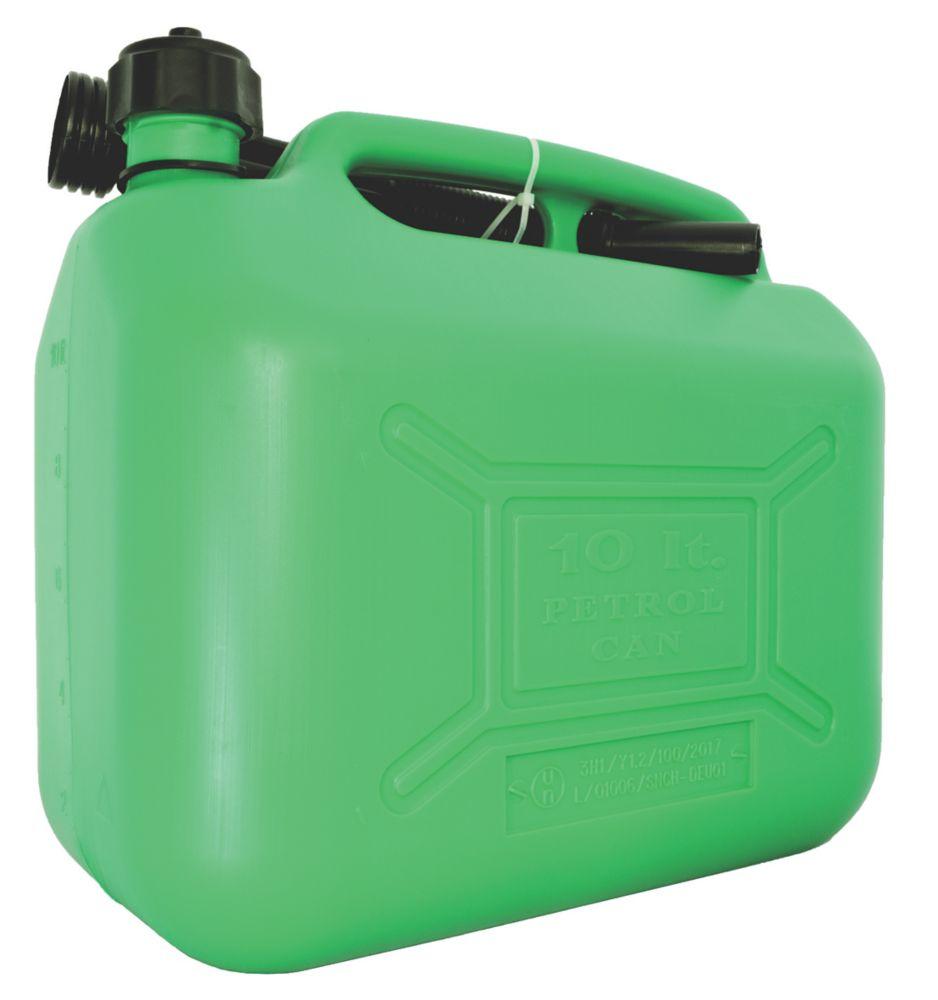 Hilka Pro-Craft Plastic Fuel Can Green 10Ltr
