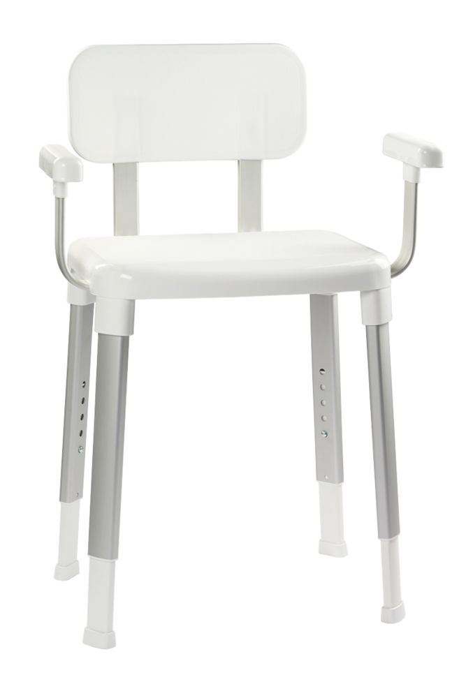 Croydex Freestanding Modular Shower Seat with Arms White