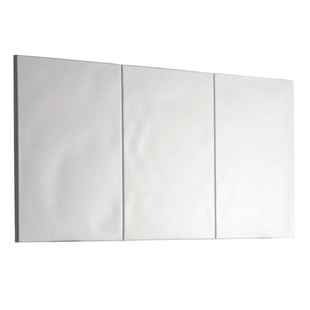Mira Flight Wall Basin Splashback  White 600 x 250 x 6mm