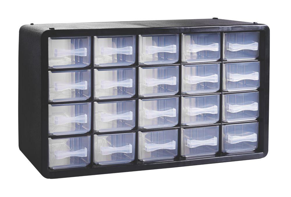 20-Drawer Plastic Storage Unit