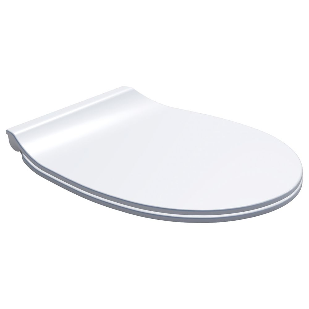 Carrara & Matta Pavia Soft-Close with Quick-Release Toilet Seat Thermoset Plastic White