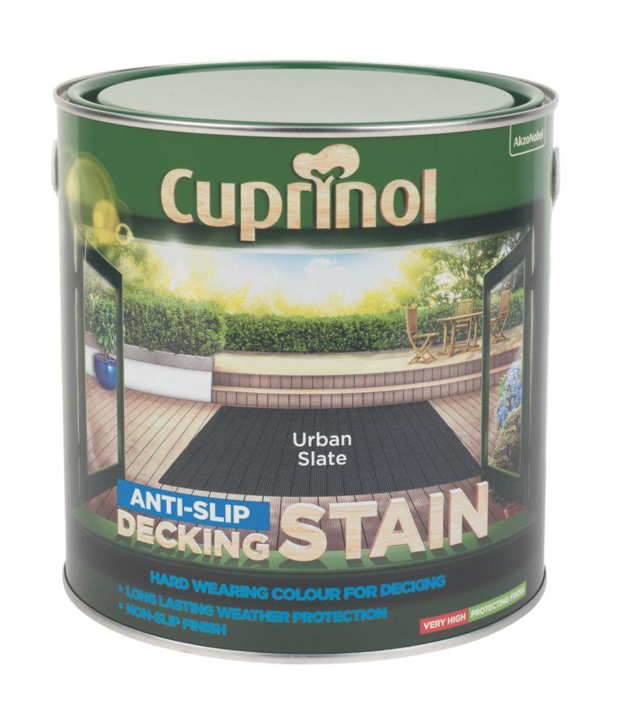 Cuprinol Anti-Slip Decking Stain Urban Slate 2.5Ltr