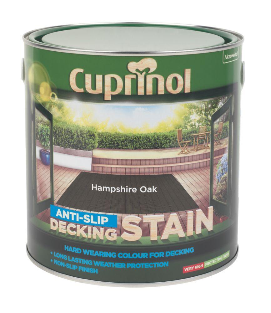 Cuprinol Anti-Slip Decking Stain Hampshire Oak 2.5Ltr