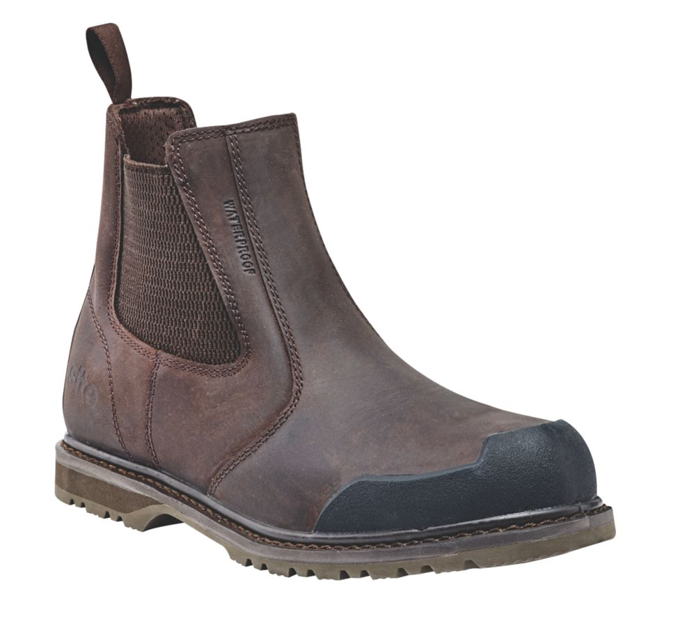 Site Prairie   Safety Dealer Boots Brown Size 12