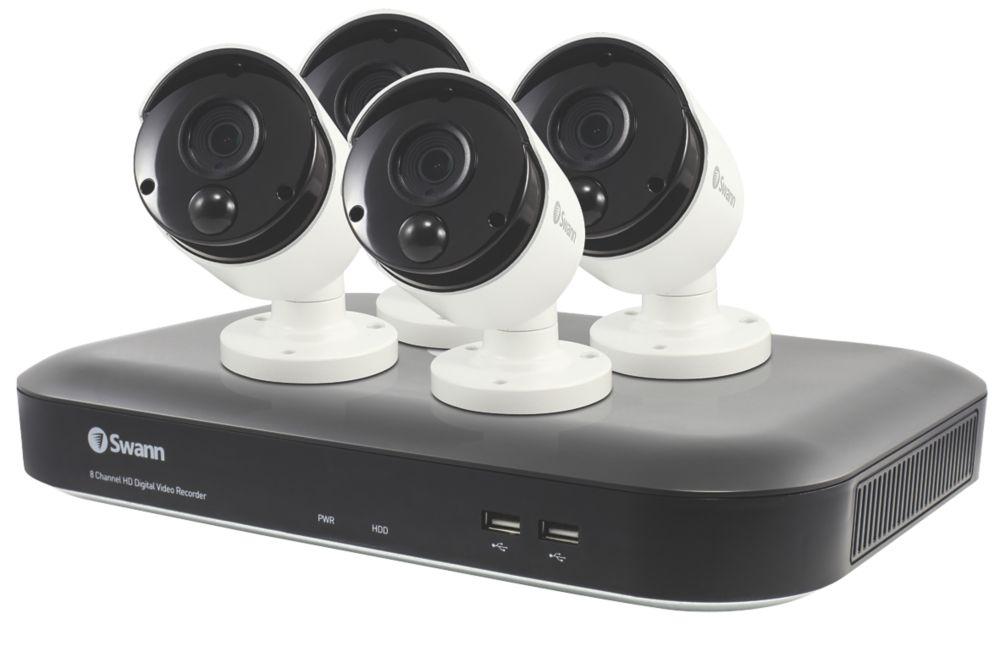 Swann   8-Channel  5MP DVR CCTV Kit & 4 Indoor & Outdoor Cameras