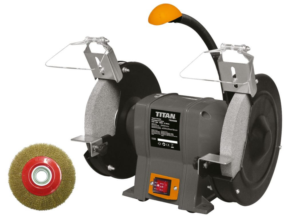 Titan TTB521GRB 200mm Electric Bench Grinder 240V