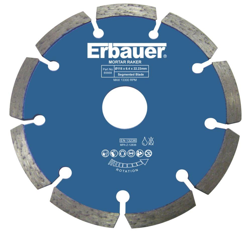 Erbauer  Masonry/Stone Diamond Mortar Rake 115 x 22.23mm