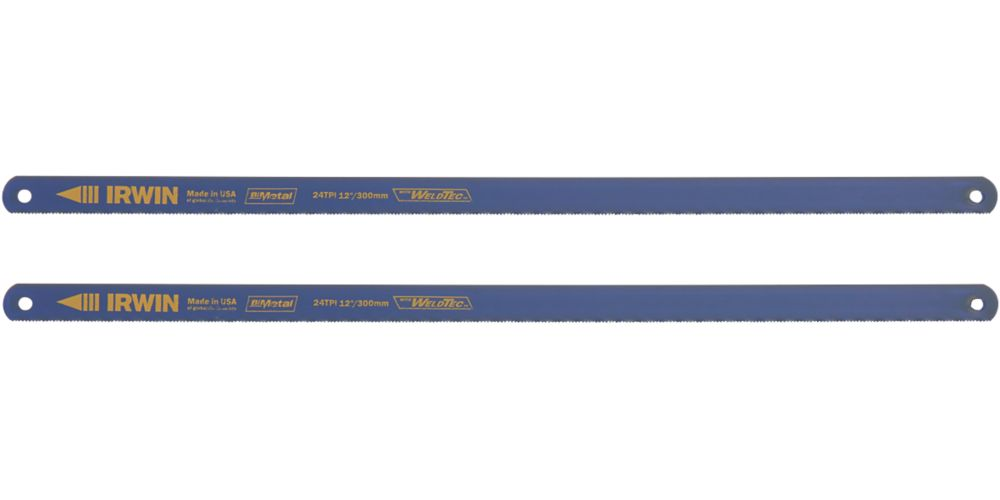 "Irwin  24tpi Metal Bi-Metal Hacksaw Blades 12"" (300mm) 2 Pack"