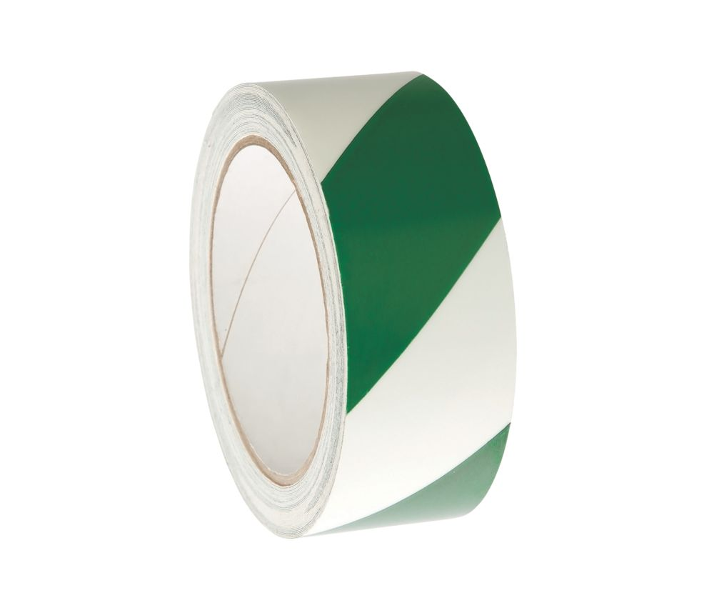 Nite-Glo Chevron Safety Tape Luminescent / Green 10m x 40mm