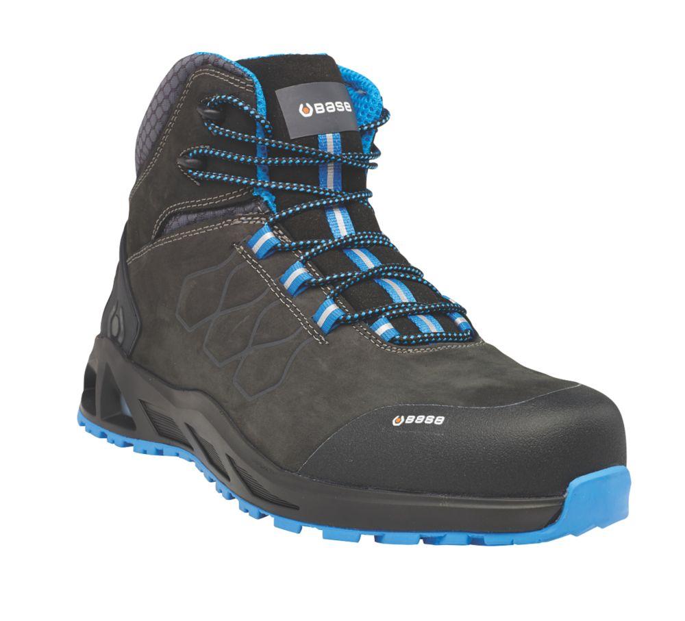 BASE K-Road Top B1001B   Safety Boots Black / Blue Size 8