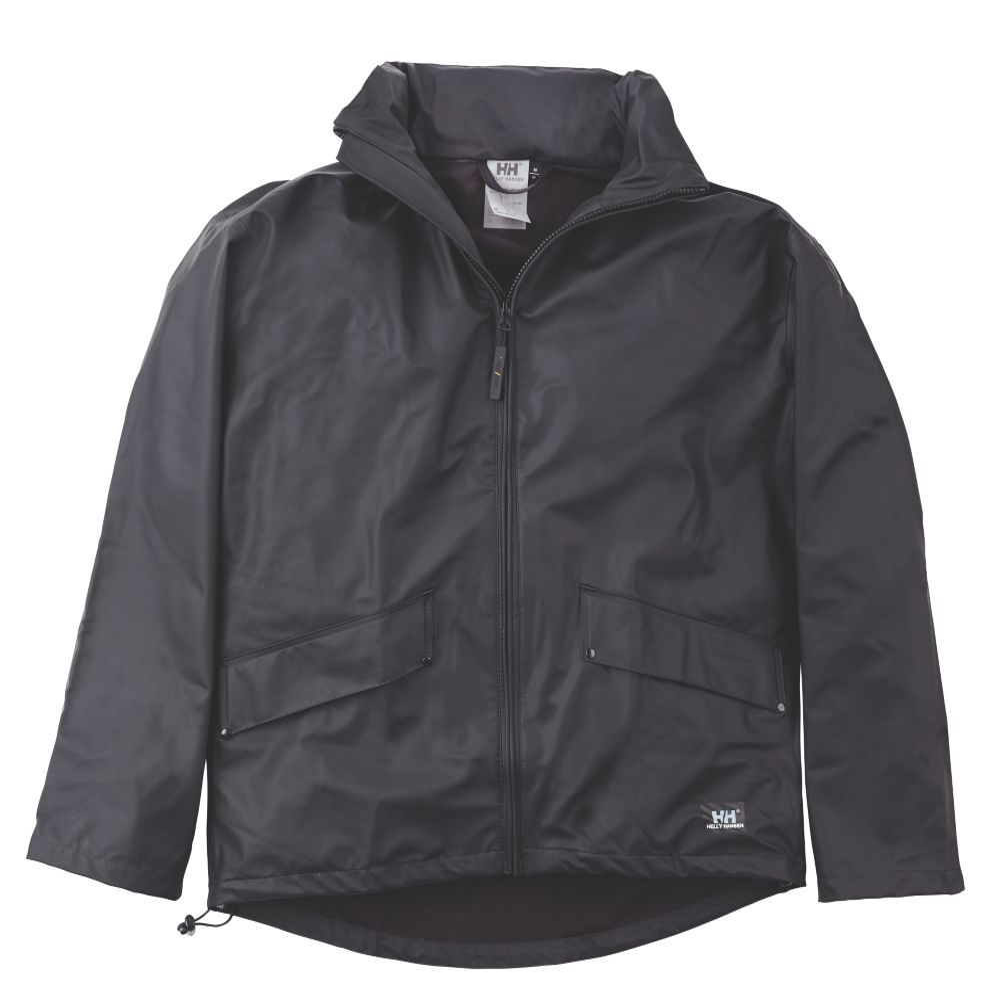 "Helly Hansen Voss Jacket Black Waterproof Medium Size 38"""