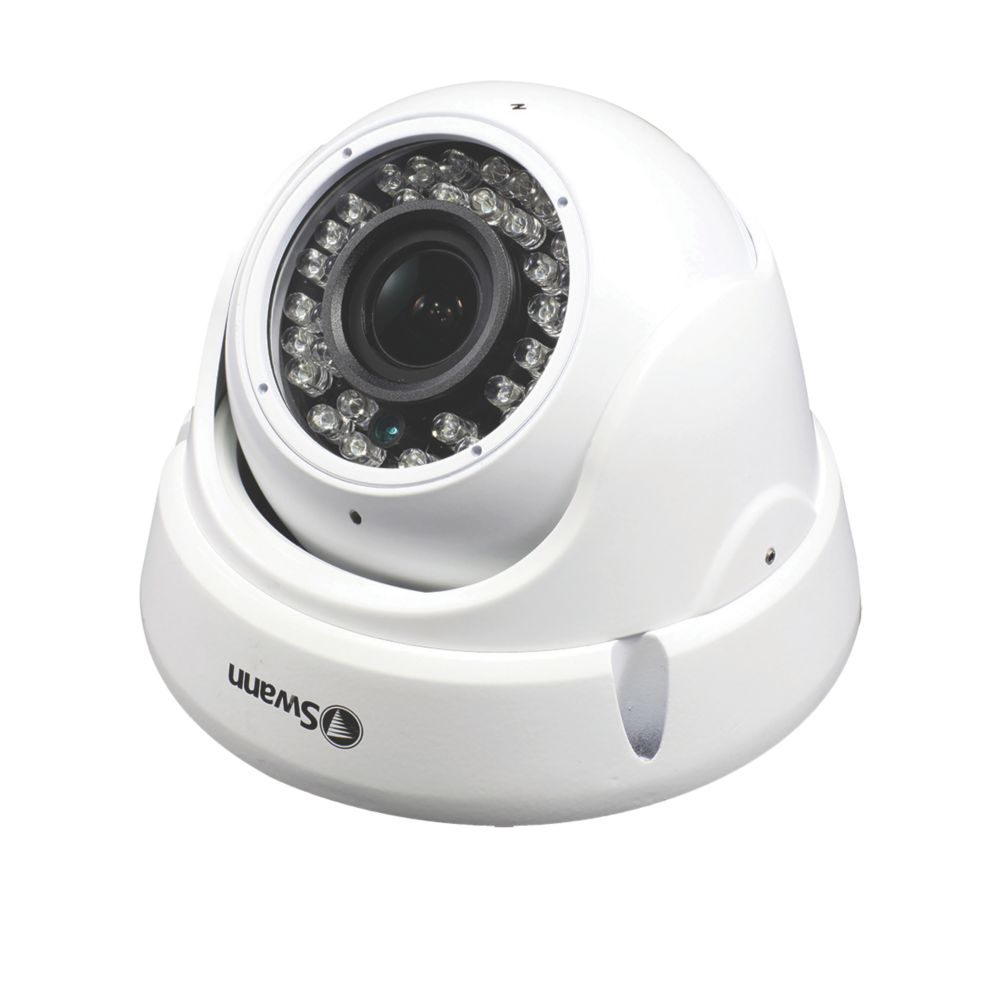 Swann   Wired 1080p Indoor & Outdoor  Autofocus Analogue Dome Camera with Audio
