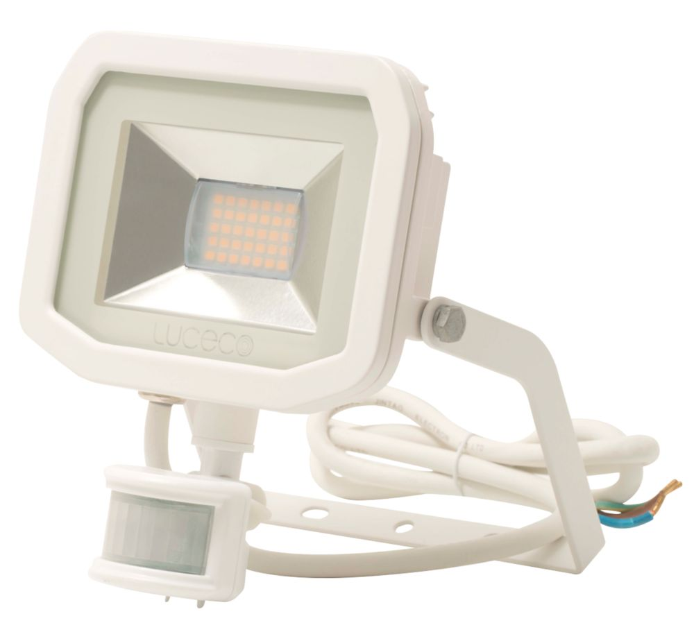 Luceco Guardian LED Floodlight & PIR White 15W Cool White