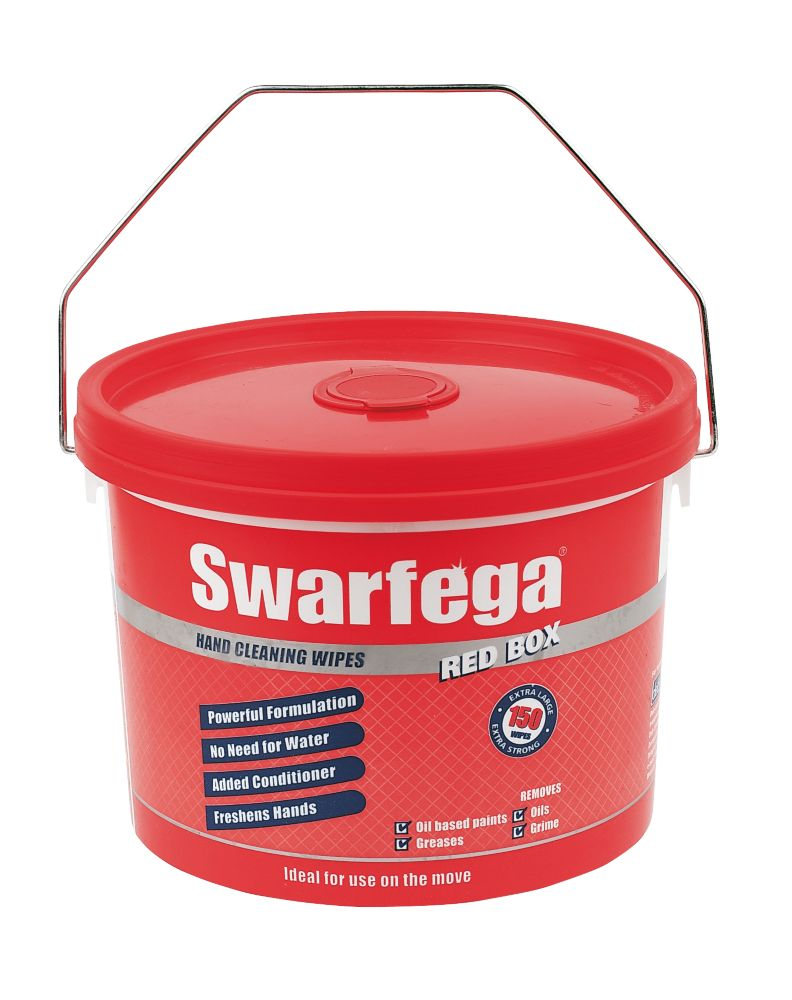 Swarfega Box Wipes Red 150 Pack