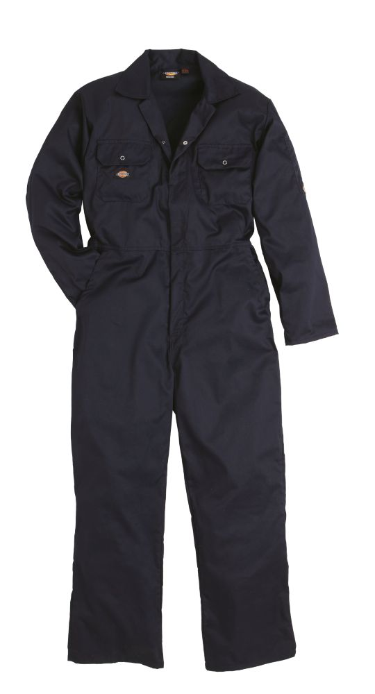 """Dickies  Economy Stud Front Coverall Navy Medium 40-42"""" Chest 30"""" L"""