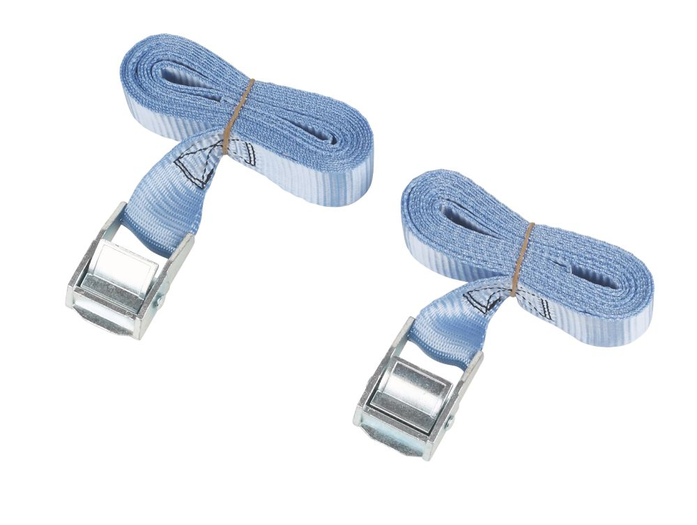 Cambuckle Tie-Down Straps 2.5m x 25mm 2 Pack