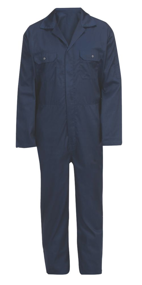 """General Purpose Coverall Navy Blue XX Large 60½"""" Chest 31"""" L"""