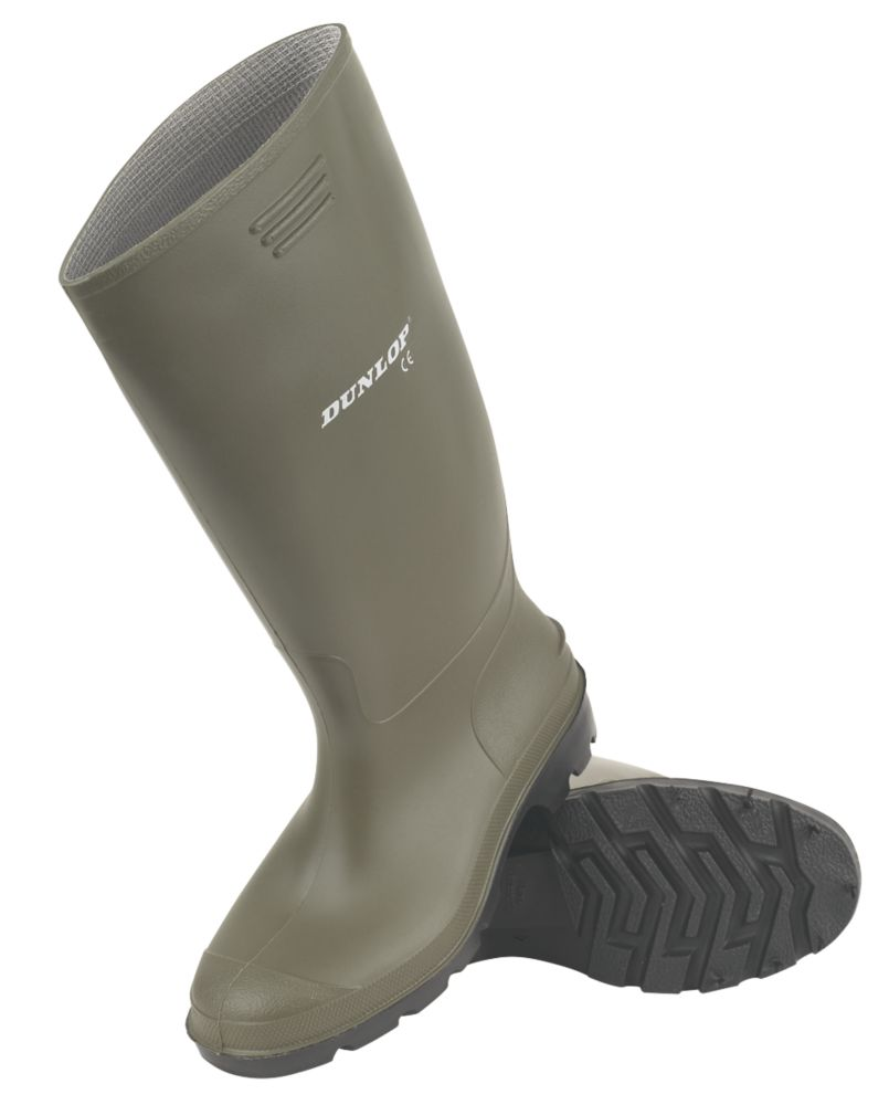 Dunlop Pricemaster   Non Safety Wellies Green Size 9