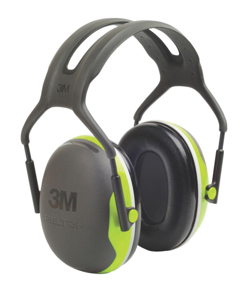 3M Peltor X4A Ear Defenders Black / Green 33dB SNR