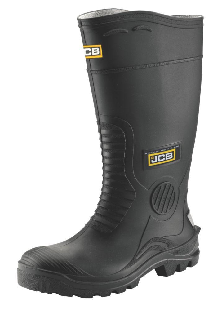 JCB Hydromaster   Safety Wellies Black Size 7