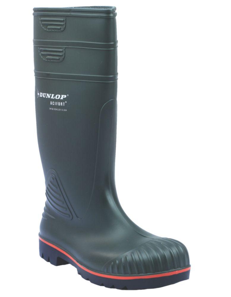 Dunlop Acifort A442631   Safety Wellies Green Size 10