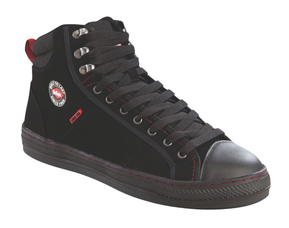 Lee Cooper 022   Safety Trainer Boots Black Size 8