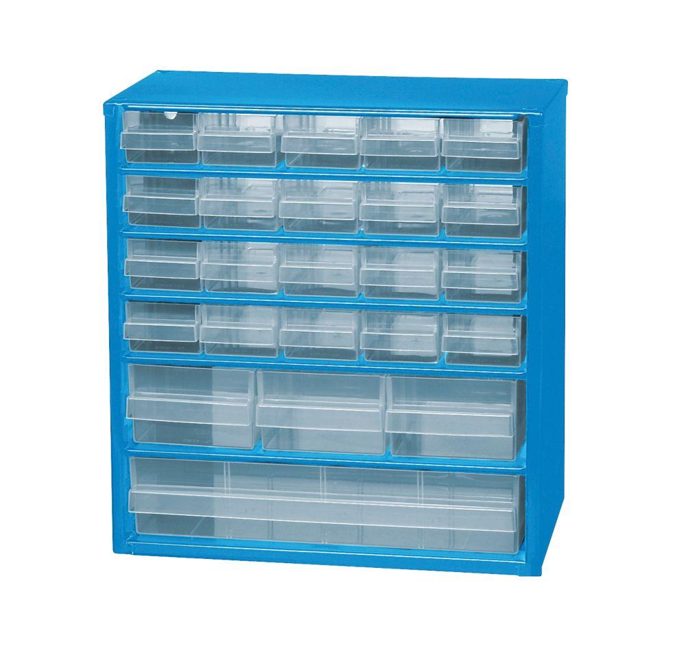 24-Drawer Metal Storage Unit
