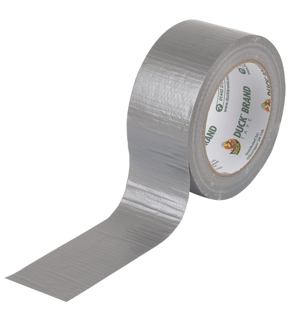 Duck Original Cloth Tape 50 Mesh Silver 25m x 50mm
