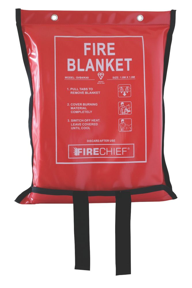 Firechief  Fire Blanket with Soft Case 1.8 x 1.8m
