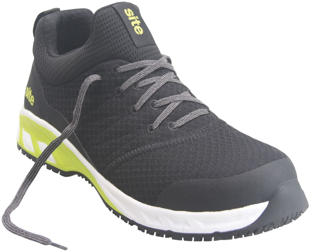 Site Realgar   Safety Trainers Black / Green Size 10