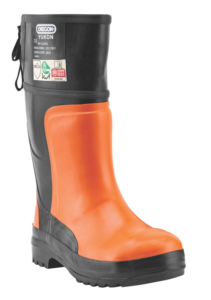 Oregon Yukon  Safety Chainsaw Boots Orange / Black Size 9.5