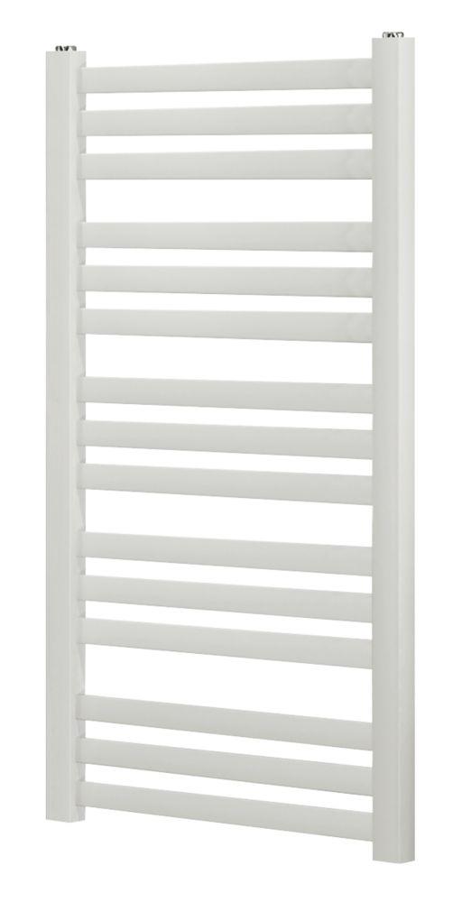 Blyss CAP08GC074 Angled Bar Towel Radiator  900 x 500mm White 1344BTU