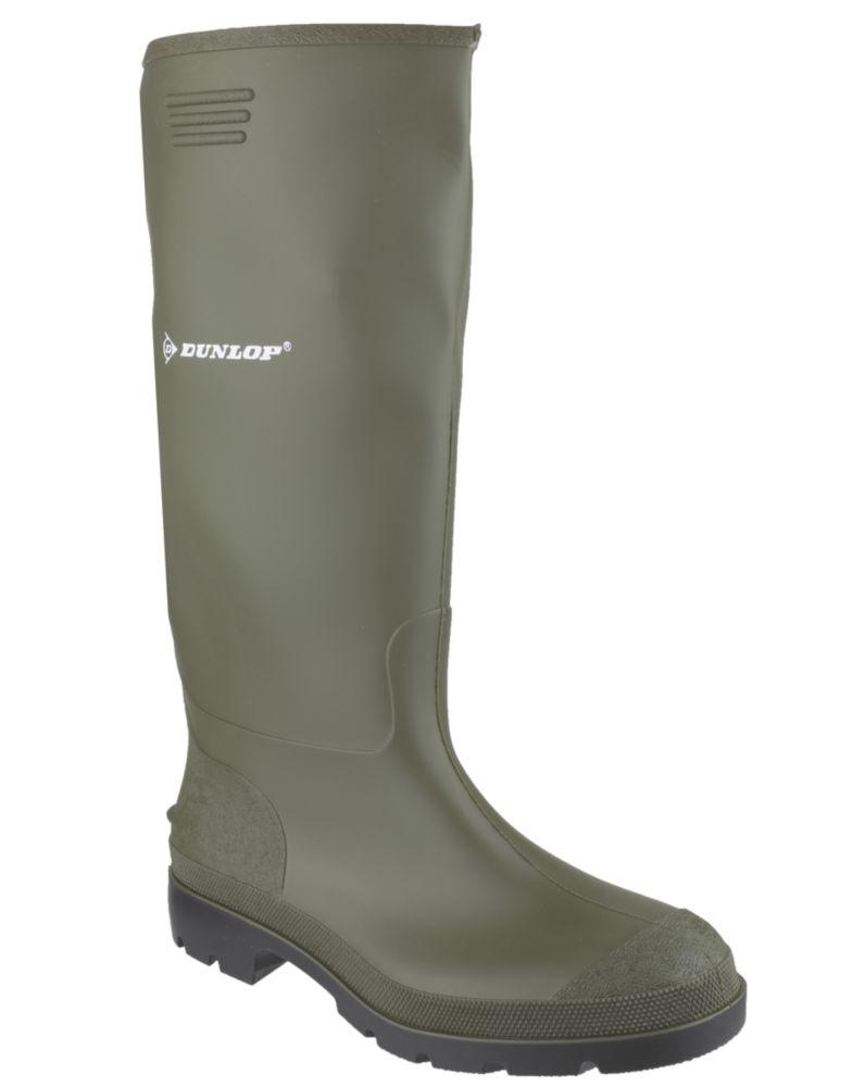 Dunlop Pricemaster 380VP   Non Safety Wellies Green Size 5