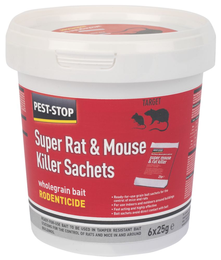 Pest-Stop Rodent Wheat Bait 25g 6 Pack