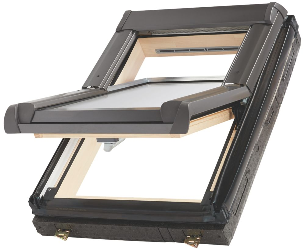 Site   Manual Centre-Pivot Lacquered Natural Pine  Roof Window Clear 540 x 780mm