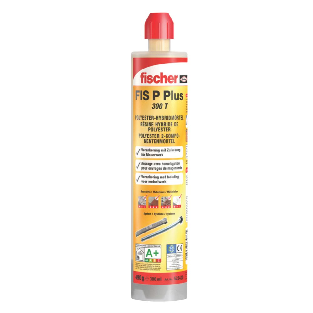 Fischer FIS P Plus Polyester Hybrid Mortar Injection Resin 300ml