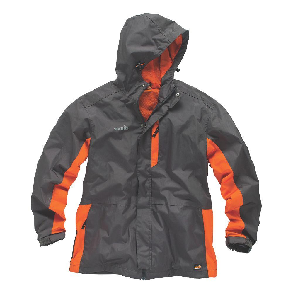 """Scruffs Worker Jacket Graphite/Orange Small 40"""" Chest"""